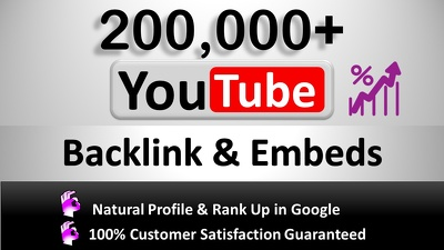 Do  200,000+ GSA SER Verified Backlinks and Embeds for YouTube
