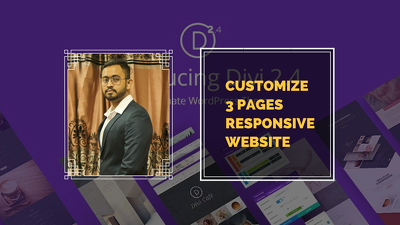 Customize 3 pages responsive WordPress website along with SEO