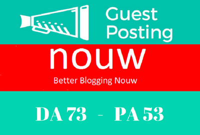 Write and publish A guest post on nouw.com
