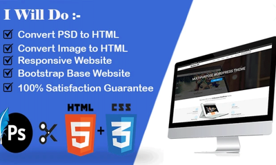 Convert PSD To Html With Responsive Layout Using Bootstrap