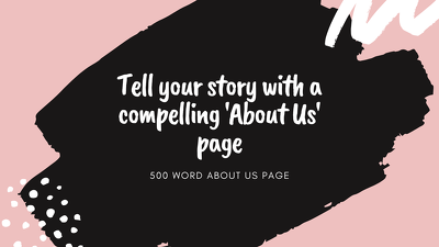 Create a compelling 500 word 'About Us' page that SLAYS