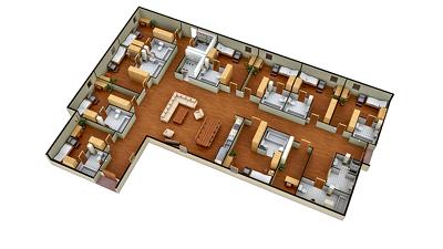 Make a 3D floor plan
