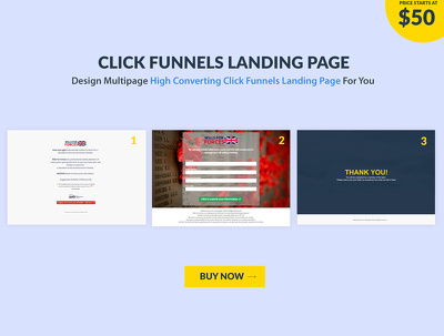 Design multipage high converting Click Funnels Landing page