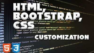 Do Html, Css, Js Customization or start from scratch