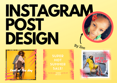 Design 3 awesome Instagram Posts