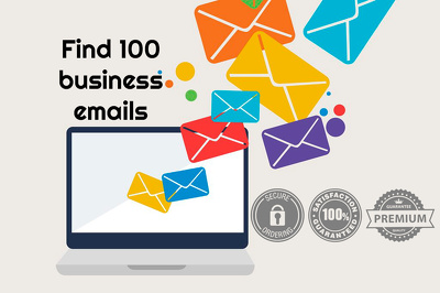 Create an emails list of 100 different business in any industry