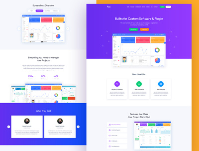 Design website home page / landing page PSD unlimited revision