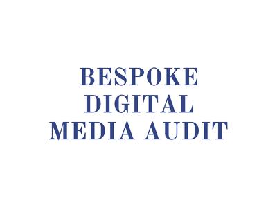 Create a FULL BESPOKE digital media AUDIT for your business
