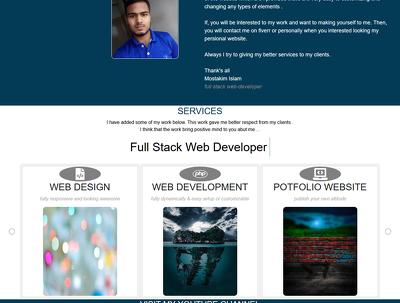 Design a dynamic and responsive portfolio website