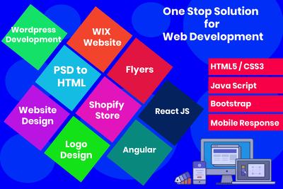 Design Modren Wordpress, HTML , React , Angular Website