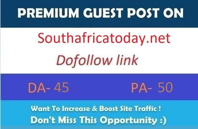 Publish a Dofollow guest post on Southafricatoday DA53+