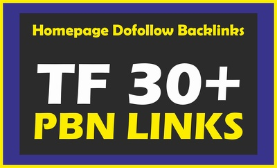 Do 10 PBN on High TF CF Permanent Homepage Backlinks