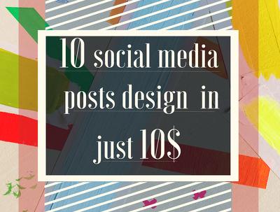Deliver 10 social media post in just 10 $.