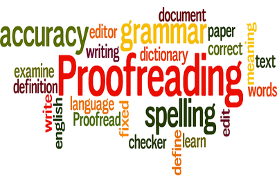 Proofread and edit 500 words of any writing