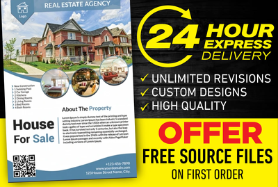 A Stunning Flyer design,Brochure Design,Leaflet design in 24Hr
