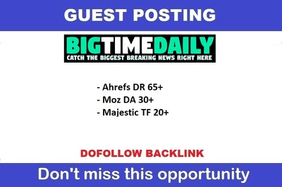 Guest Post On Dr65 Google News Site With Dofollow Backlink