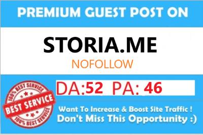 Write & Publish a Guest Post on Storia.me DA-52 Backlink