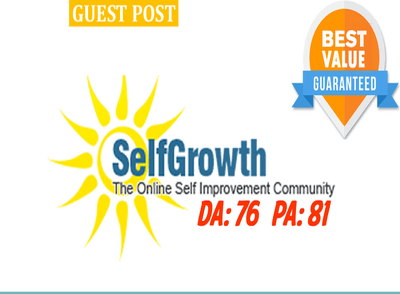 Write and publish perfect SEO optimized articles on Selfgrowth.c
