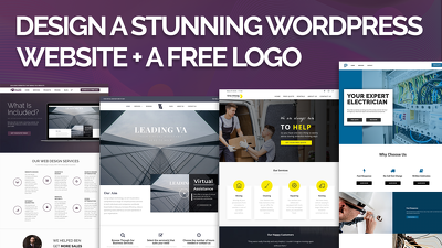 design a Custom Responsive WordPress Website + FREE Logo
