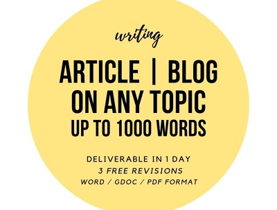 1000 word ARTICLE / PAPER / SCRIPT on any topic
