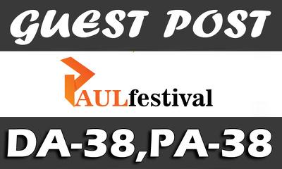 """UNIQUE Guest Post on """"PAULFESTIVAL"""" DA-38"""