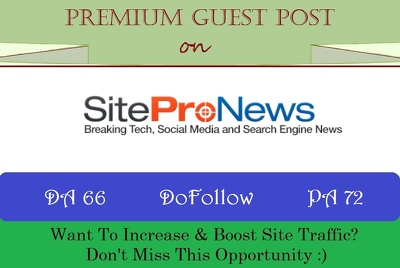Publish A Guest Post on Sitepronews.com with DoFollow