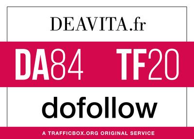 Publish a guest post on deavita.fr - DA84