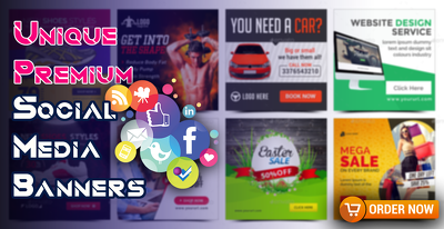 Design an amazing social media banner ads within 24 hours