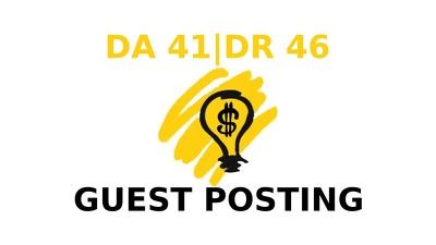 Publish a guest post on Entrepreneurship In a Box DA 41, DR 46