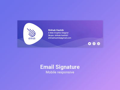 Design HTML Email Signature within 24 hours