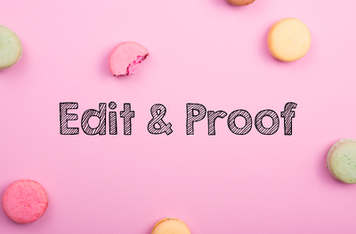 Edit and proofread up to 2500 words of your copy
