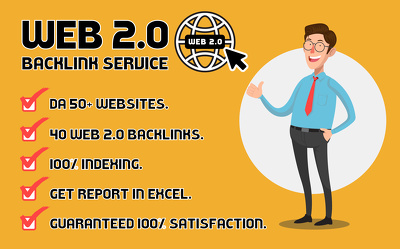 ⭐ 40 Web 2.0 High Quality DA50+ Backlinks at Best Price ⭐