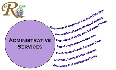 Provide Administrative Services for 2 hourse