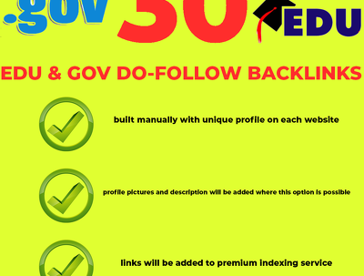Provide 30 EDU & GOV backlinks