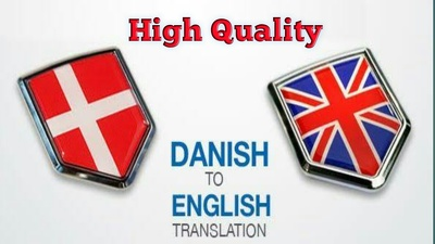 Translate from Danish to English for $15 in less than 2 days