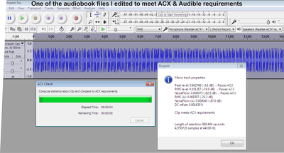 Professionally Edit 30 mins of your Audiobook According to ACX