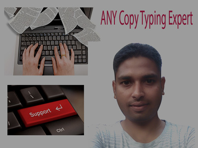 Do Typing Job, PDF Or Scanned Copy To Word Doc