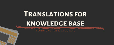 Translation of technical documentation for knowledge base