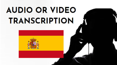 Transcribe 60 minutes of spanish audio or video