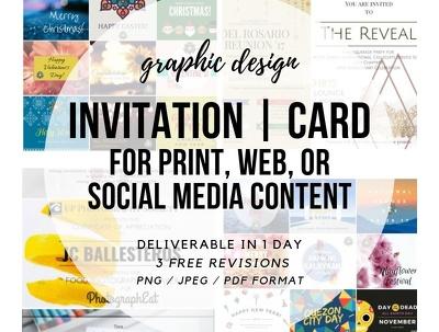 pOSTER / FLYER / BROCHURE / INFOGRAPHIC/ MENU / INVITATION CARD