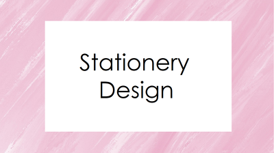 Design key business stationery items