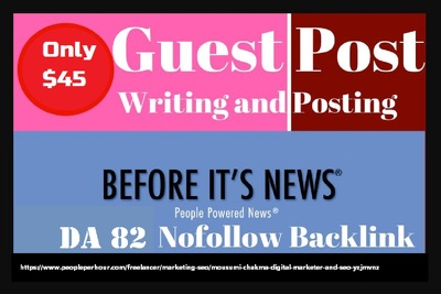 Write and publish live guest post on  Beforeitsnews.com da82