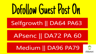 Write & publish 3 guest post DA [96, 72, 64] sites with dofollow