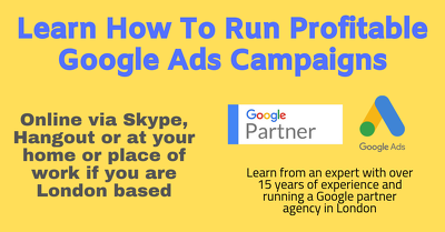 Teach you how to run profitable ads on google