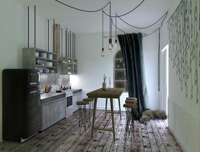 Make a render of an interior