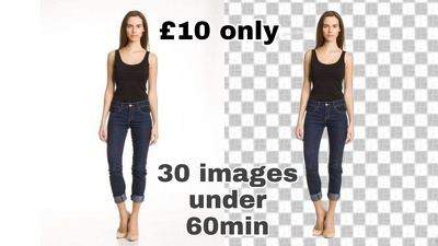 Do 30 images background removal work under  60min