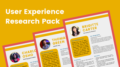 Create a User Experience Research Pack