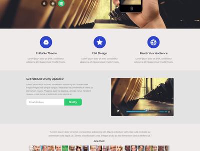 Design landing web page ui ux PSD templates