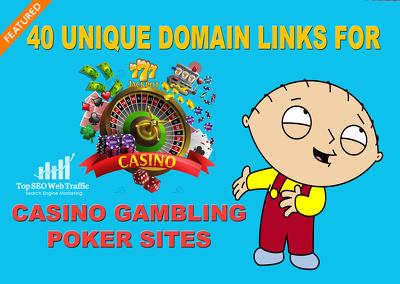 40 PBN Links Casino/Gambling/Poker sites From Top Casino site