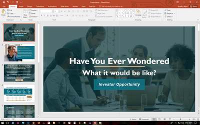Design a professional business powerpoint presentation